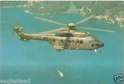 Helicopter Postcard - Swiss - Super Puma - T-311 (P2529)