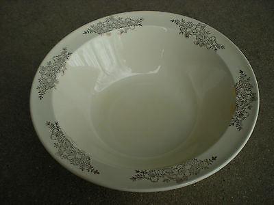 Taylor Smith Taylor Serving Vegetable Bowl with Gold Flowers Golden Floral USA