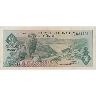 Congo ( Banque Nationale Du ) 50 Francs 01/04/1962 Ttb+