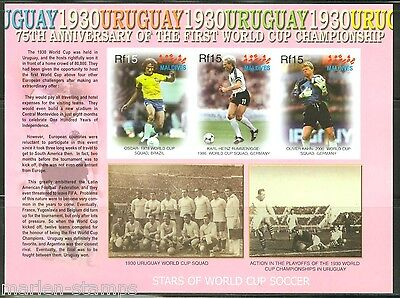 MALDIVES 75th ANNIVERSARY WORLD CUP SOCCER SC#2863 SHEET   IMPERFORATED MINT NH