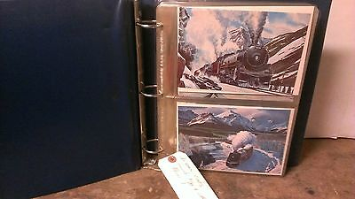 Railroad Christmas Cards Lot Prints Howard Fogg and Others