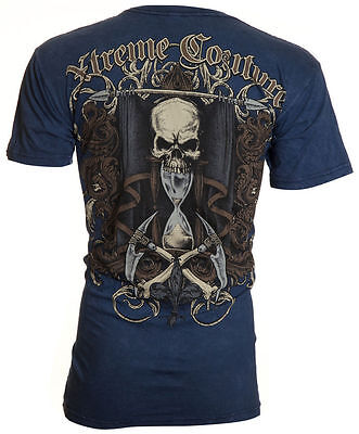 XTREME COUTURE by AFFLICTION Mens T-Shirt SANDS OF TIME Tattoo Biker $40