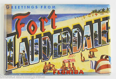 Greetings from Fort Lauderdale FRIDGE MAGNET florida travel souvenir beach