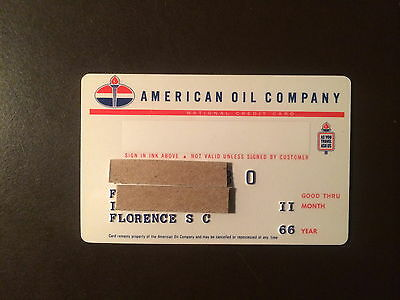 American Oil Company 1966 Vintage Collectors Credit Card - Florence, SC