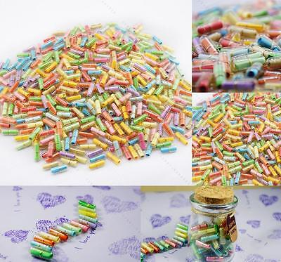 Message in a Bottle Message Capsule Letter Cute #C Love Pill full clear color