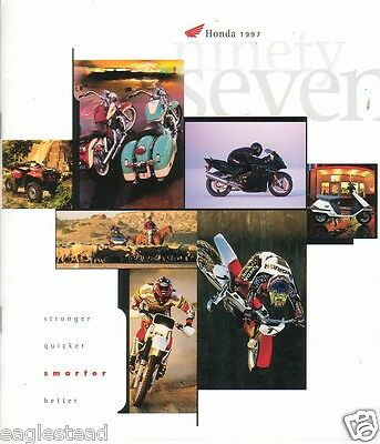Motorcycle Brochure - Honda - Product Line Overview incl ATV Scooter 1997 (DC114