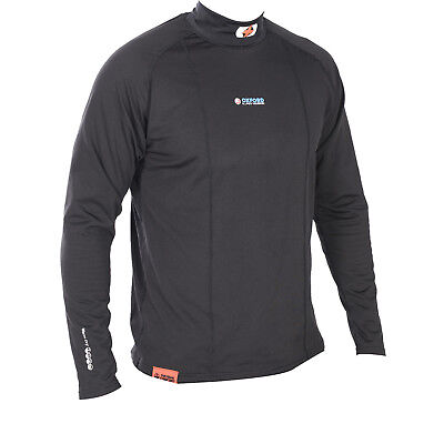 Oxford Layers Warm Dry Long Sleeve High Neck Top Motorcycle Base Layer Shirt