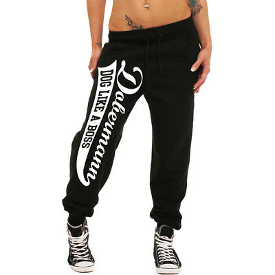 Frauen Mädchen Jogginghose DOBERMANN sweatpants hose hund hunde damen girl girls