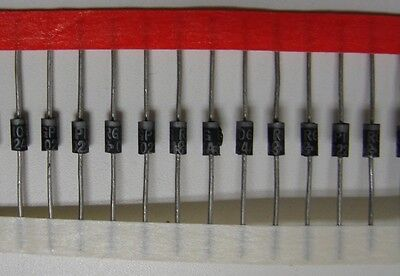 General Semi/Vishay 1A/400V RGP10G Silicon Rectifier Diode, DO-204AL, 50pcs