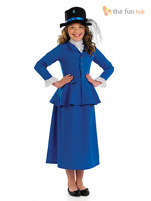 Girls Victorian Governess Fancy Dress Mary Nanny Book Week Day Costume Film