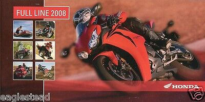 Motorcycle Brochure - Honda - Product Line Overview incl ATV Scooter 2008 (DC119