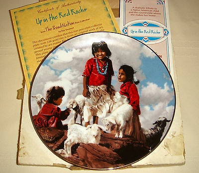 RAY SWANSON Proud Nation Cute Navajo Girls & Sheep UP IN THE RED ROCKS Plate