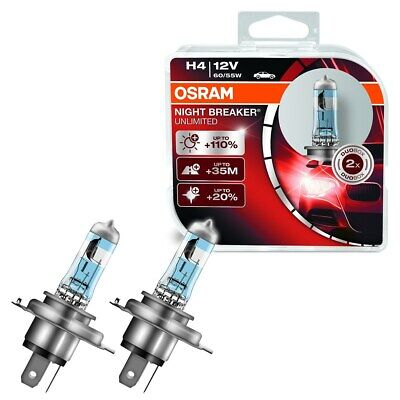Osram Duo Box Halogen-Lampe H4 Night Breaker Unlimited Scheinwerfer Licht Lampe