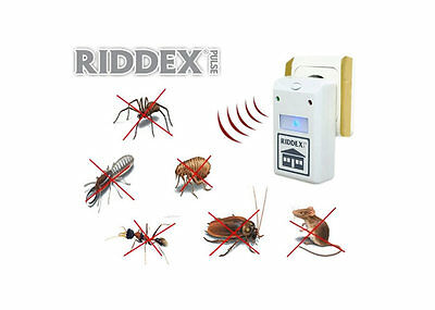 NEW RIDDEX Electronic Ultrasonic Rodent Pest Repellent Repelling Aid 110V-220V
