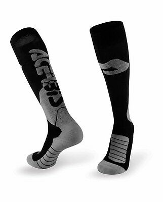 Acerbis Adult L/XL Pro MX  Long Socks Black/Grey Coolmax  Motocross Enduro L/XL