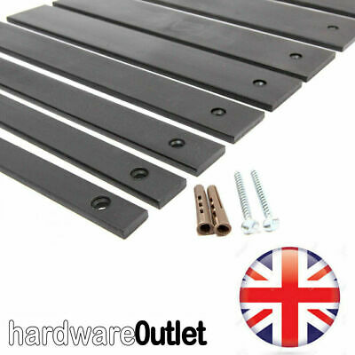1 x Steel Security Bar 25 x 6.0 mm Black Window Secure Shed Home Garage Workshop