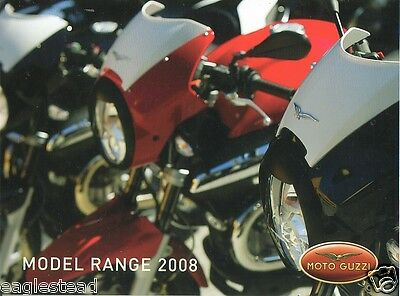 Motorcycle Brochure - Moto Guzzi - Product Line Overview - 2008 (DC153)