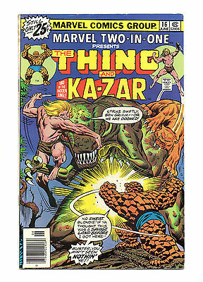 Marvel Two-In-One No 16 Jun 1976 (FN) Thing & Ka-Zar, cents copy
