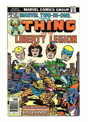Marvel Two-In-One No 20 Oct 1976 (FN+) Thing & The Liberty Legion, cents copy
