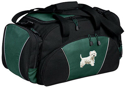 West Highland White Terrier Embroidered Duffel Bag