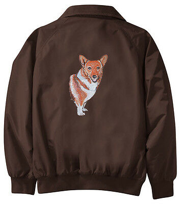 Corgi Embroidered Jacket - Jacket Back - Sizes XS thru XL