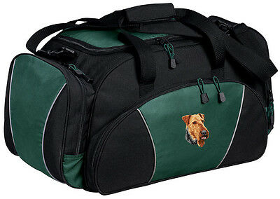 Airedale Terrier Embroidered Duffel Bag