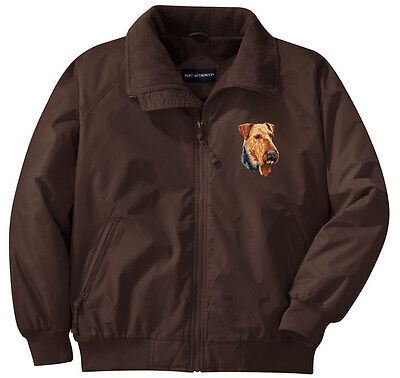 Airedale Terrier Embroidered Jacket - Left Chest - Sizes XS thru XL