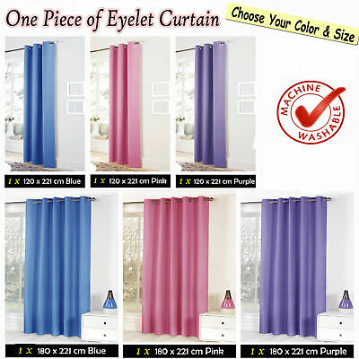 Choose Size & Color - Eyelet Blackout Curtain Kids Children Nursery