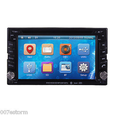 """Universal 6.2"""" Double 2 Din Car DVD Player iPod Bluetooth In Dash Stereo USB/SD"""