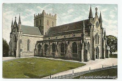 northern ireland postcard ulster irish co. armagh cathedral