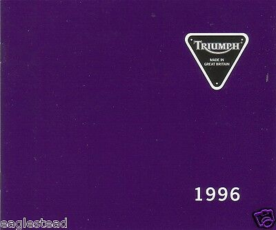 Motorcycle Brochure - Triumph - Product Line Overview - 1996 (DC166)