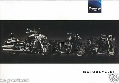 Motorcycle Brochure - Triumph - Product Line Overview - 2008 (DC172)