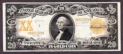 US 1906 $20 Gold Certificate FR 1185 VF-XF (-378)