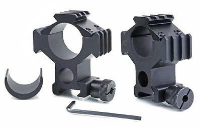 Tactical See-Through QD Tri-Rail 25mm/30mm Scope Weaver Mount Rings