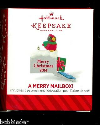 2014 Hallmark Local Club Members Only A MERRY MAIL BOX repainted Miniature