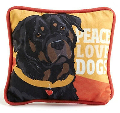 Rottweiler Decorative Dog Pillow 9×8