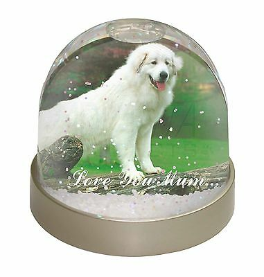Pyrenean Mountain Dog 'Love You Mum' Snow Dome Globe Waterball Animal Christmas