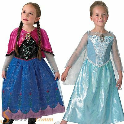Girls Frozen Musical Costume Disney Princess Fancy Dress Light Up Child Outfit