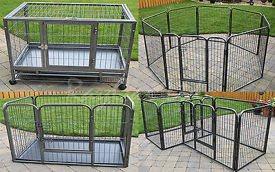 Heavy Duty Dog Pen Puppy Pet Play Cage Run Whelping Strong Playpen Enclosure