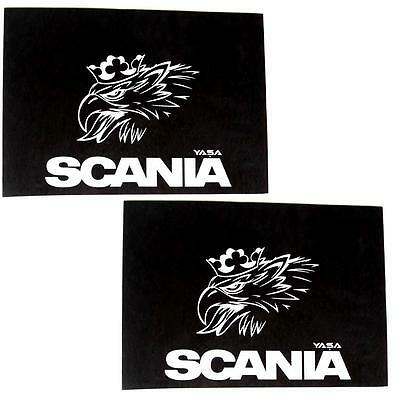 2 X RUBBER MUDFLAPS MUDGUARDS MUD FLAP FOR SCANIA TRUCK LORRY 500 x 350mm