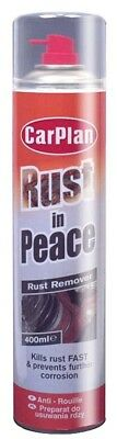 CarPlan WRP400 Rust In Peace Car / Home Rust Remover Treatment Prevention 400ml