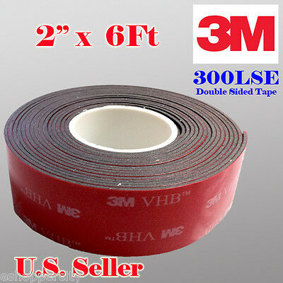 "3M 2"" x  6 ft VHB Double Sided Foam Adhesive Tape 5952 Acrylic Indrustrial Grade"