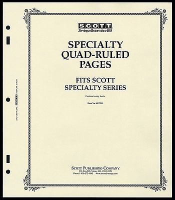 Scott SPECIALTY ALBUM Quadrille-Ruled Blank Pages (Per 20)
