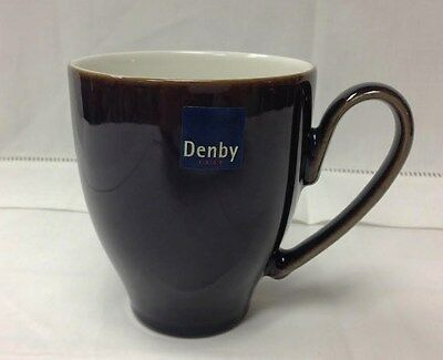 "Denby ""amethyst"" Large Mug 4 1/4"" High, Stoneware Brand New Made In England"