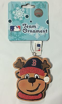 Boston Red Sox Gingerbread REINDEER Christmas Tree Holiday Ornament NEW