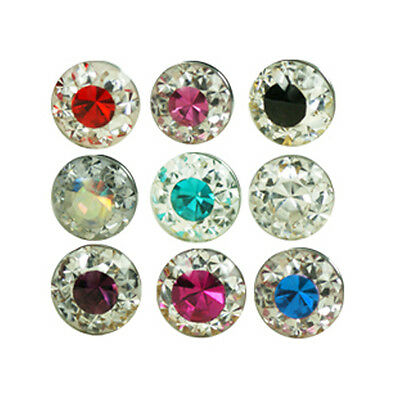 1,2mm Epoxy Crystal Piercing Vis De Boule 4mm 2-couleurs