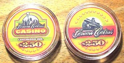$2.50 Grand Central CASINO CHIP - Lakewood, Washington