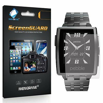 3 New Brand Membrane Screen Protectors Protect for Pebble Steel Smartwatch