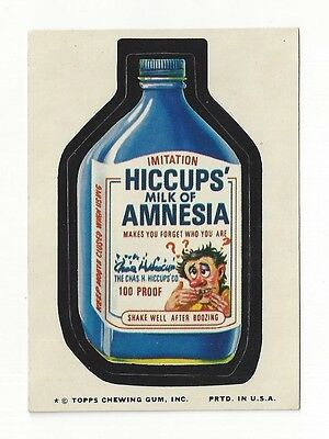 1974 Topps Wacky Packages 10th Series 10 HICCUPS' MILK OF AMNESIA nm-/nm