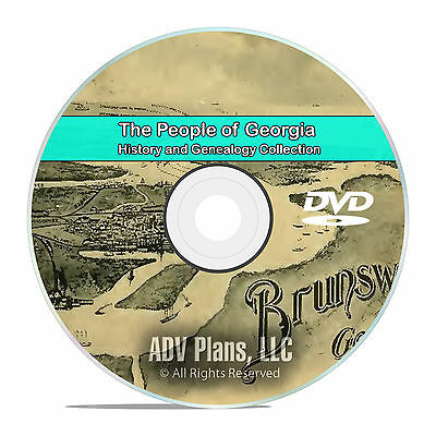 Georgia GA, People Civil War Stories History and Genealogy -141 Books DVD CD B01